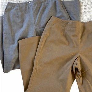 Talbots Stretch Fabric Beige/ Gray Straight Leg